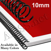 10 mm 4:1 Plastic Spiral Coil Binding Supplies