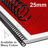 25 mm 4:1 Plastic Spiral Coil Binding Supplies