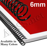 6 mm 4:1 Plastic Spiral Coil Binding Supplies