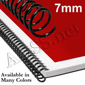 7 mm 4:1 Plastic Spiral Coil Binding Supplies