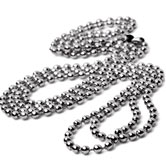 "30"" Nickel Plated Bead Neck Chains"