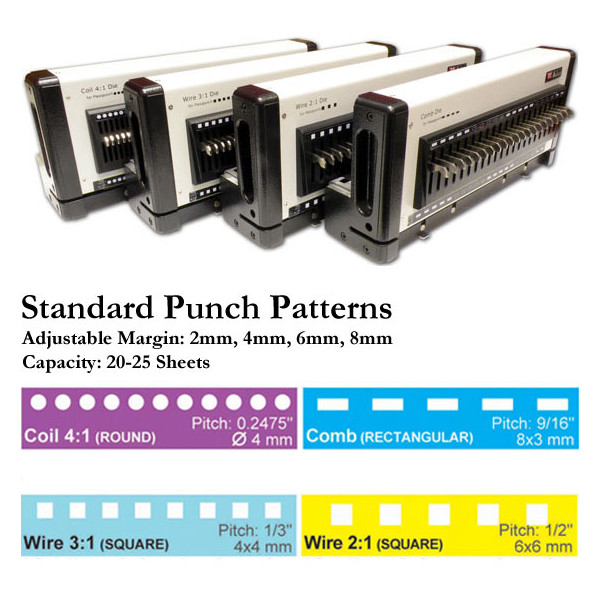 FlexiPunch-M Heavy-Duty Manual Modular Punch with Interchangeable Die Feature