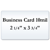 Business Card 10 Mil Laminating Pouches