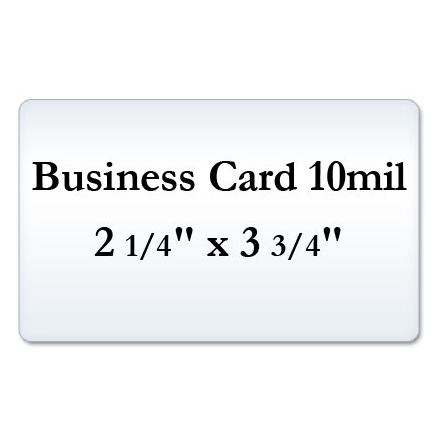 Business Card 10 Mil Matte Laminating Pouches