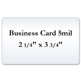 Business Card 5 Mil Matte Laminating Pouches