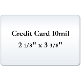 Credit Cart 10 Mil Laminating Pouches