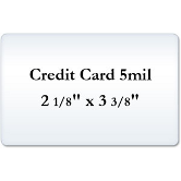 Credit Card 5 Mil Matte Laminating Pouches
