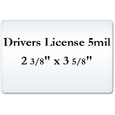 Drivers License 5 Mil Laminating Pouches