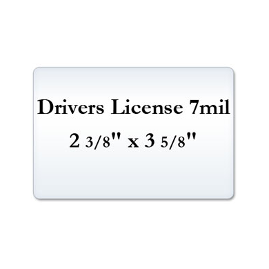 Drivers License 7 Mil Laminating Pouches