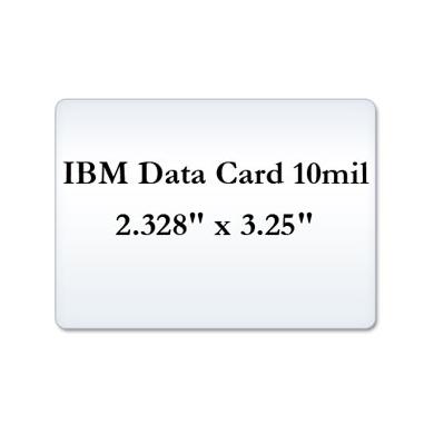IBM Data Card 10 Mil Laminate Pouches, Small Laminating