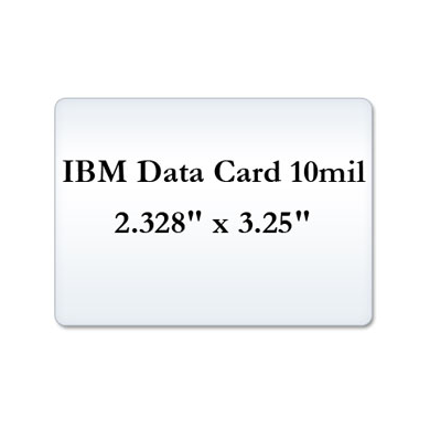 IBM Data Card 10 Mil Laminate Pouches, Small Laminating