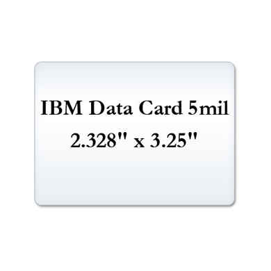 IBM Data Card 5 Mil Laminate Film, Small Laminating Pouches
