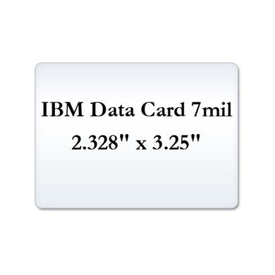 IBM Data Card 7 Mil Laminate Film, Small Laminating Pouches