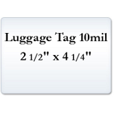 Luggage Tag 10 Mil Laminating Pouches