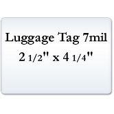 Luggage Tag 7 Mil Laminating Pouches