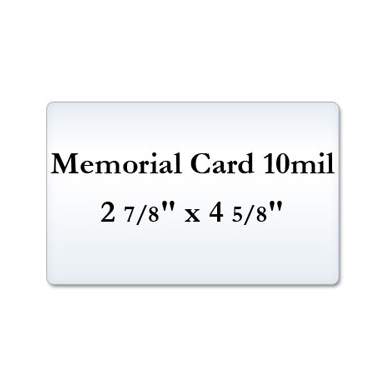 Memorial Card 10 Mil Laminating Pouches