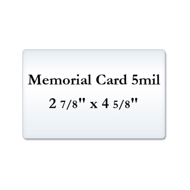 Memorial Card 5 Mil Laminating Pouches
