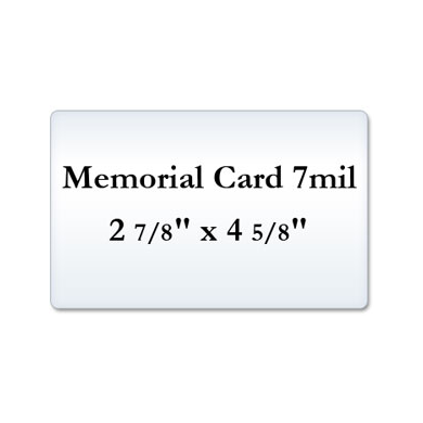 Memorial Card 7 Mil Laminating Pouches