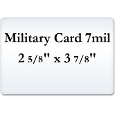Military Card 7 Mil Laminating Pouches